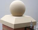Flat pier cap 500mm x 500mm and 12″ ball